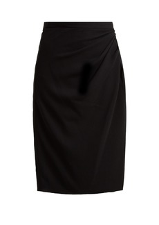 Altuzarra Crane satin pencil skirt