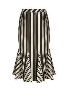 Altuzarra Crocus striped wool-blend skirt