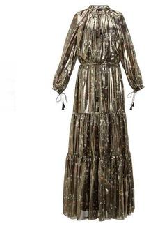 Altuzarra Currie floral-print metallic silk-blend gown