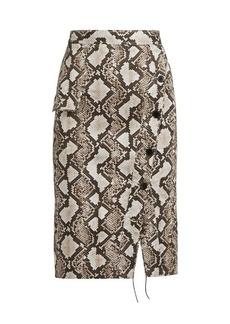 Altuzarra Curry snake-print pencil skirt