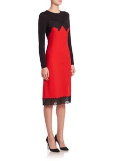 Altuzarra Debbie Knit-Silk Lingerie Long-Sleeve Dress