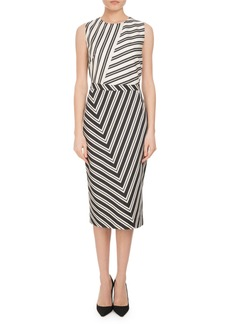 Altuzarra Desdemona Mixed Stripe Sheath Dress