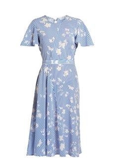 Altuzarra Dorothea short-sleeved striped silk midi dress