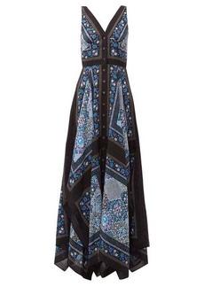 Altuzarra Duel patchwork-print silk dress
