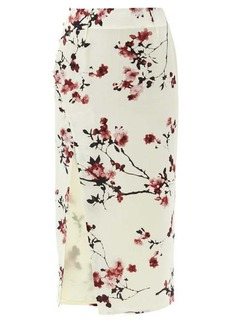 Altuzarra Edmund cherry blossom-print side-slit silk skirt
