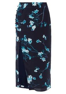Altuzarra Edmund side-slit floral-print silk skirt