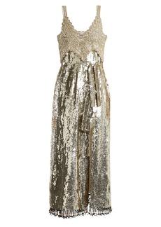 Altuzarra Elan sequin and bead-embellished silk dress