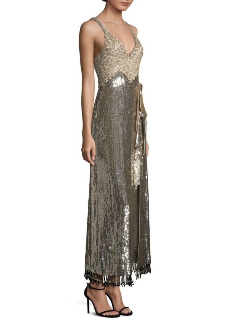 Altuzarra Elan Silver Sequin Dress   Dresses