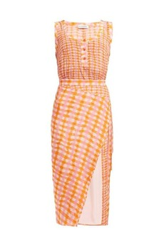 Altuzarra Eleonora gingham-print silk midi dress