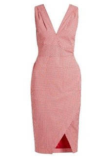 Altuzarra Elida checked dress