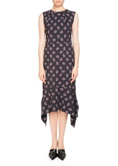 Altuzarra Elvie Sleeveless Floral-Print Midi Dress