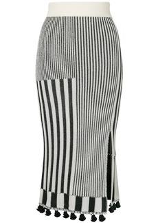 Altuzarra embroidered midi skirt - Black