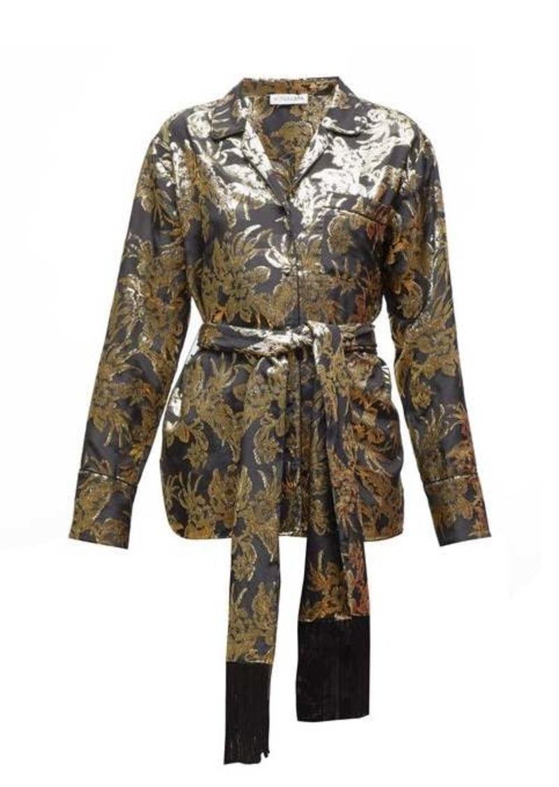 Altuzarra Enid floral-brocade silk-blend shirt