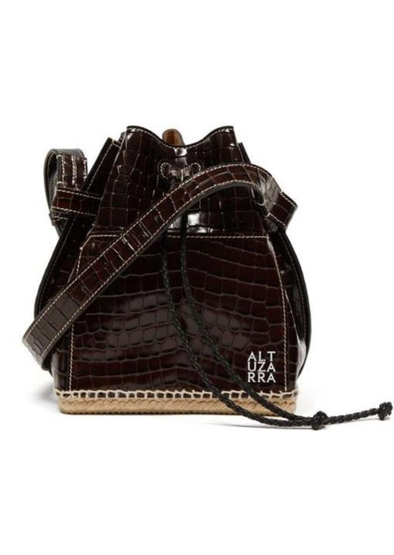 Altuzarra Espadrille suede leather bucket bag