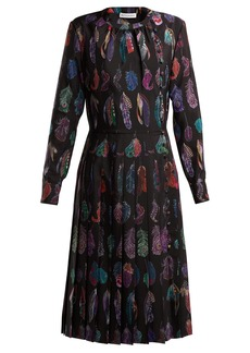 Altuzarra Falcon feather-print dress