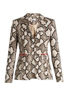 Altuzarra Fenice python-print cotton-blend blazer