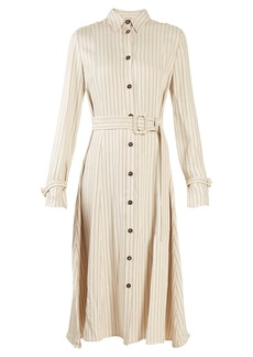 Altuzarra Fiona waist-belt pinstriped twill shirtdress