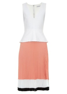 Altuzarra Flamingo tri-colour pleated-skirt dress