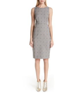 Altuzarra Floral Plaid Sheath Pencil Dress