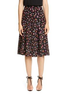 Altuzarra Floral Print A-Line Silk Skirt