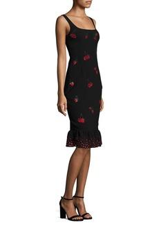 Altuzarra Fria Cherry Embellished Dress