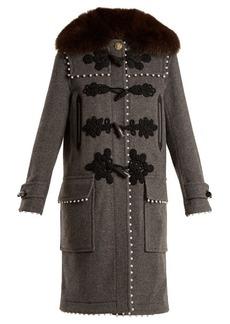Altuzarra Gardano faux-pearl embellished wool coat