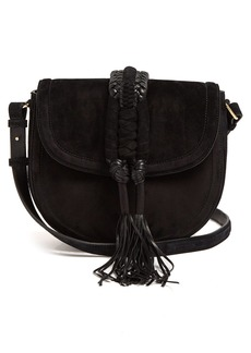 Altuzarra Ghianda braided-leather suede cross-body bag