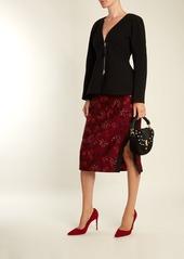 Altuzarra Ghianda mini braided-leather suede shoulder bag