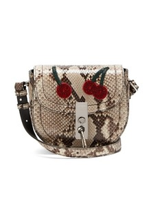 Altuzarra Ghianda mini python cross-body bag
