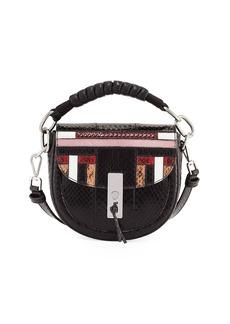 Altuzarra Ghianda Mini Snakeskin Saddle Bag