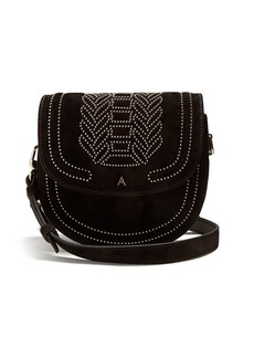 Altuzarra Ghianda mini stud-embellished suede bag