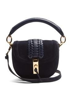 Altuzarra Ghianda mini suede top-handle cross-body bag