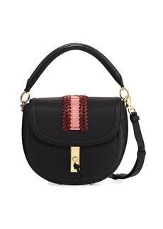 Altuzarra Ghianda Pebbled Stitched Top-Handle Saddle Bag