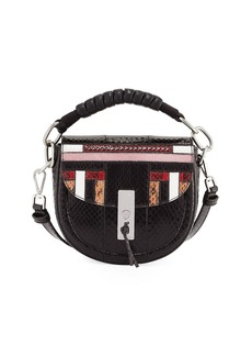 Altuzarra Ghianda Mini Snakeskin Saddle Bag