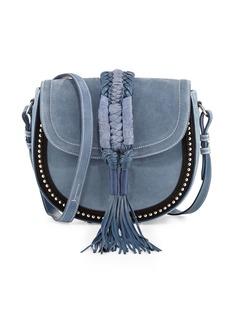 Altuzarra Ghianda Studded Suede Saddle Bag