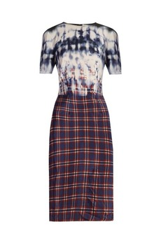 Altuzarra Glaze tie-dye and checked dress
