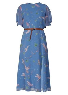 Altuzarra Gormann bird-print silk-chiffon midi dress