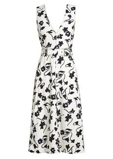 Altuzarra Helen V-neck floral-print crepe-cady midi dress