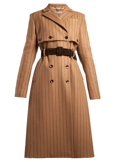 Altuzarra Higgins pinstriped double-breasted wool-blend coat