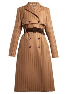 Altuzarra Higgins pinstriped double-breasted wool-blend coat