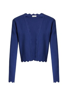 Altuzarra Hughes open-front scallop-edged cardigan