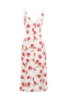 Altuzarra Ilaria poppy-devoré panelled midi dress