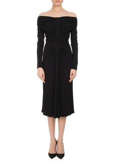 Altuzarra Imogene Ruched Off-the-Shoulder Dress
