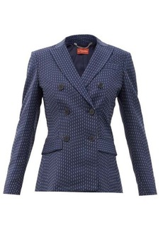 Altuzarra Indiana double-breasted pinstriped crepe jacket