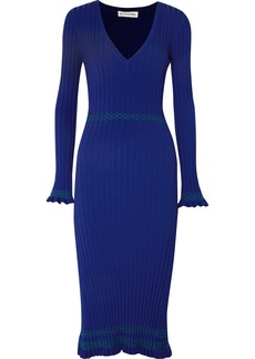 Altuzarra Isolde ribbed-knit midi dress