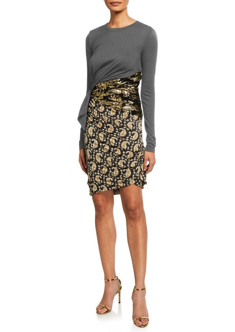 Altuzarra Jersey Paisley Skirt Bodycon Dress