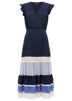 Altuzarra Judy tiered-hem crepe dress