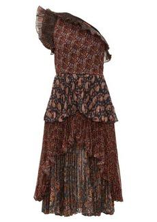 Altuzarra Kamala paisley-print one-shoulder chiffon dress