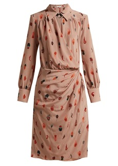 Altuzarra Kat feather-printed silk midi dress