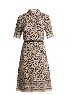 Altuzarra Keiran leopard-print silk shirt dress